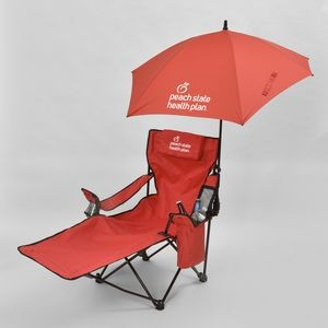 The Recliner Lounge Chair w/Kite Umbrella