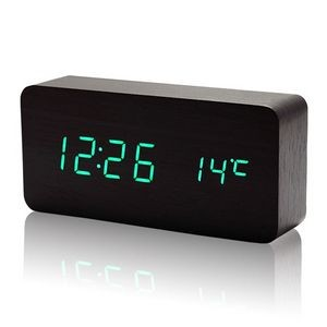 Sound Control Digital LED Wooden Alarm Table Clock