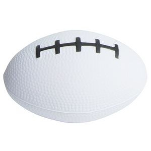 White Football Squeezies® Stress Reliever