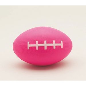 Pink Football Squeezies® Stress Reliever