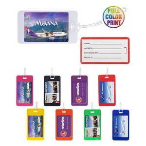 Slip In Pocket Luggage Tags - Full Color Print