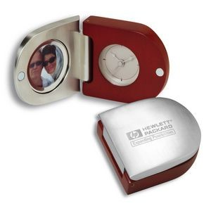 Travel Alarm Clock with Photo Frame