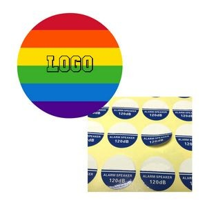 Round Gay pride Sticker