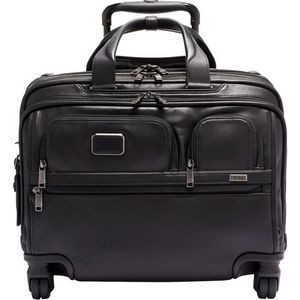 Tumi Alpha 3 Deluxe 4 Wheeled Laptop Case Brief Leather