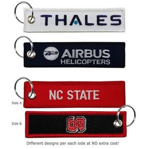 Medium Size Embroidered Key Tag