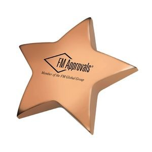 Bronze / Rose Gold Metal Star Paper Weight