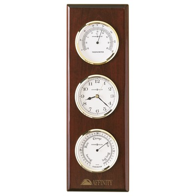 Howard Miller Shore Station Wall Clock w/ Barometer & Thermometer