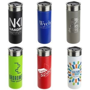 Solari 18 oz Copper-Lined Powder-Coated Insulated Tumbler