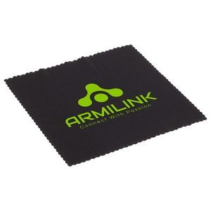 "6"" x 6"" 220GSM Microfiber Lens Cloth with Antimicrobial Additive"