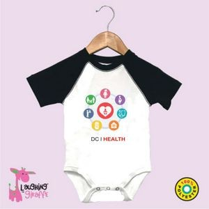 Baby Raglan Onesie Short Sleeve (Includes Full Color Logo)