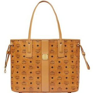 MCM Cognac Brown Medium Reversible Liz Shopper