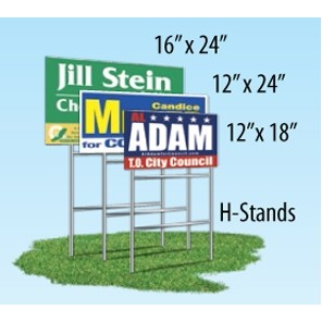 "Single Sided Yard Sign (12""x18"")"