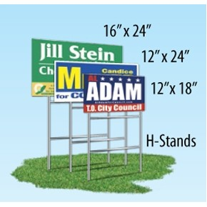 "Double Sided Yard Sign (12""x18"")"