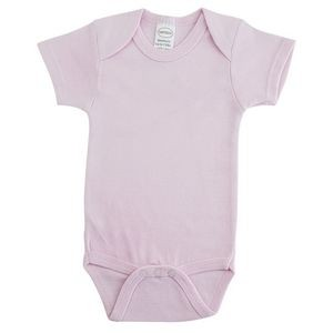 Interlock Pink Short Sleeve One Piece Bodysuit
