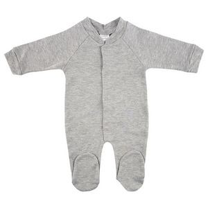 Interlock Heather Grey Closed Toe Long Johns