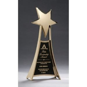 Star Casting Trophy in Gold Tone Finish 4.75x10.75