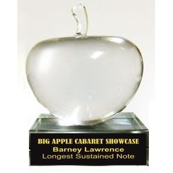 Solid Crystal Engraved Paperweight - Apple - 3""